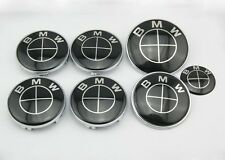 7pc NEW BMW² Black EmblemE30 E39 E46 E60 E90 E92 E65 E63 M1 M3 M5 M6 73mm/82mm