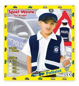 Polizeiweste, Spielweste für Kinder Polizei Ordnungshüter Wachtmeister 12156113F
