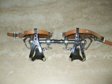 Vintage Campagnolo Pre 73 Record Steel Cages, Steel Caps Pedals set.
