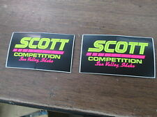 "Vintage Motocross MX Off Road Scott Competition Sun Valley Idaho 2x3.5"" Stickers"