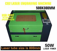 300mmX500mm 50W CO2 USB laser engraving machine own Rotary axis Lasergravierer