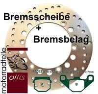 EBC Bremsscheibe vorne + Bremsbelag - Kawasaki KMX 125 B bis 98 + ABE - rostfrei