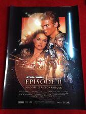Star Wars Episode 2 Krieg der Sterne Kinoplakat Poster Angriff der Klonkrieger