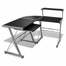 L-Shape Corner Computer Desk PC Laptop Table Workstation Home Black/Brown/White