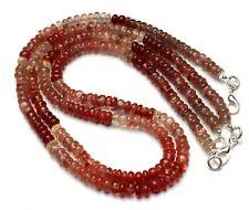 "Natural Gem Andesine Labradorite 6mm Size Smooth Rondelle Beads Necklace 18"""