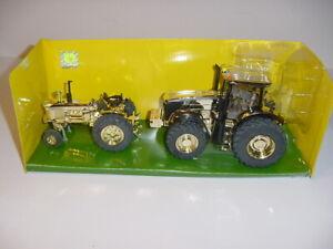 "1/32 John Deere 4020 & 7280R ""Then & Now Gold Tractor Set"" by ERTL NIB!"