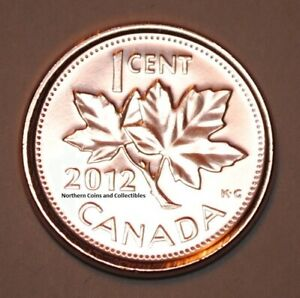 2012 1 Cent Canada Zinc Nice Uncirculated Canadian Penny Non Magnetic