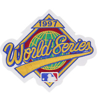 1997 MLB World Series Logo Jersey Sleeve Patch Cleveland Indians Florida Marlins
