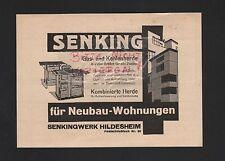 HILDESHEIM, Werbung 1930, SENKING-Werk Gas-Kohlen-Herde