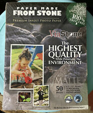ViaStone 50 Sheets Premium Inkjet Matte 8.5x11 Photo Paper Made From Stone Nip