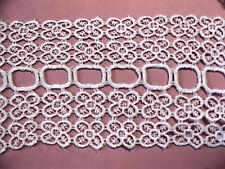 """Pretty Venise Lace Jewelry 4-1/2"""" Satin Trim Bridal Rayon By the yd #737"""