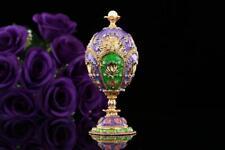 Luxury egg shaped replica trinket box, metal home decor and gift