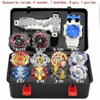 4D Beyblade Burst Metal Set B Fusion W 4 Launcher Beyblade Spinning Booster Toys