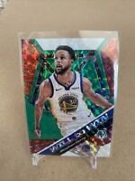 2019-20 Panini Mosaic Basketball Steph Curry Green Prizm Will To Win Insert #14