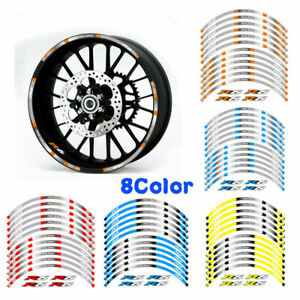 """YAMAHA YZF R6  MOTORCYCLE RIM """"17 STRIPES WHEEL DECALS TAPE STICKERS"""