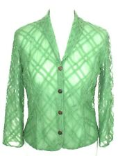 ONLY HEARTS NYC Green Mesh Victorian Style Jacket Top - L