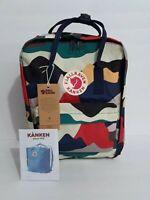 Fjallraven Kanken Backpack Art Dark Camo Canvas Sport Shoulder Bag Medium 16L