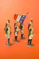 Cbg Mignot Antik 1ER Empire Schön Serie von 4 Dragons Zur Parade