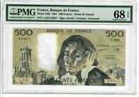 France 500 Francs 1987 Pick# 156f PMG Superb UNC 68 EPQ