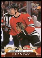 2020-21 UD Series 1 Canvas Young Guns #C99 Nicolas Beaudin RC