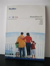 res med humidifier c-pap Resmed HumidAire 2i users manual directions - New