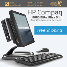 Windows 10 Full PC System Bundle - HP Compaq 8000 Elite - Intel Core 2 Duo - SSD