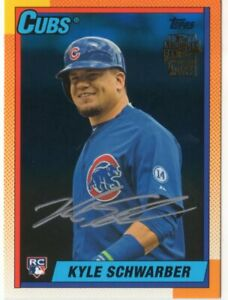 2016 TOPPS ARCHIVES  KYLE SCHWARBER  AUTOGRAPH CARD 12/199 ROOKIE CARD