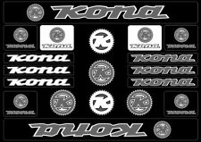 KONA Bicycle Bike Frame Decals Sticker Adhesive Graphic Vinyl Aufkleber Gray