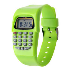 8-Digit Calculating Watch Digital Calculator + LED Light Function Watch Kid Gift