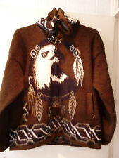 Hooded Zipped Coat Jacket Large Hand Made In Ecuador Genesis Handicrafts