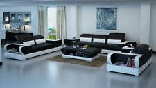 Sofagarnitur Couch Polster Leder Sitz Garnitur 3+2+1 Set Modernes Sofa  Detmold