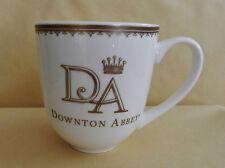 "DOWNTON ABBEY 2014 CUP MUG COFFEE TEA  WORLD MARKET GOLD ""DA"" CROWN CREST NO BOX"