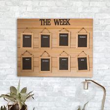 Weekly Blackboard Wall Organiser 7 Day Chalk Board Memo Planner Home Devor