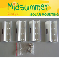 Large Aluminium Z Feet Mount Set - 4 x 100mm for solar panels 100W/250W/300W