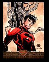 Superman: The Legend 2013 Cryptozoic DC Comics Sketch Card by Jezreel Rojales