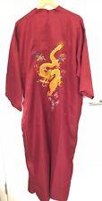 Vintage Wine Fully Lined Satin men's /ladies Kimono/ Bathrobe Size XXL Brand New