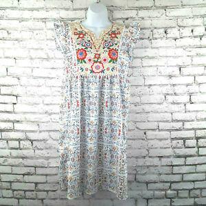 Womans Dress Size Medium Cottagecore Folklore Mexican Spanish Floral