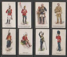 CIGARETTE CARDS Gallaher 1898 Types of the British Army & Colonial Regiments x 8