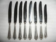 Vintage France Table 8 Butter Knives Inoxydable Flatware Silverware Ag 90 12
