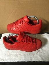 Adidas Equality Red Pharrell Williams Superstar Trainers Size 5.5 UK