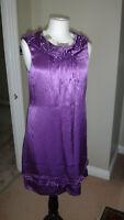 Pretty PRINCIPLES Jewelled Purple 100% Pure Silk Dress, Sz UK 8, EU 38