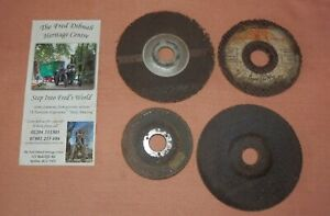 Fred Dibnah collection of 4 grinding discs from Fred's shed