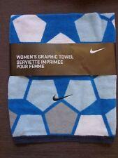 Nike Women's Graphic Towel Blue/Black/Grey 100% Cotton New