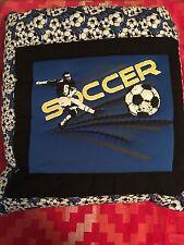 New Handmade Soccer Quillow (Pillow w/ 6ft long quilt inside!)