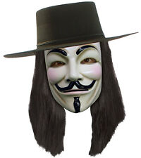 V for Vendetta WIG Licensed Adults Mens Fancy Dress Costume Accessory 51385