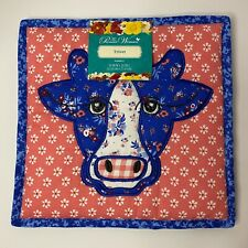 New listing The Pioneer Woman Trivet Pot Holder Hot Pad Quilted Cow Heifer Animal Farmhouse