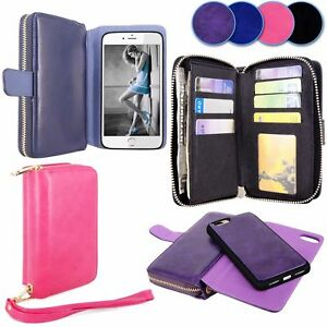 For Apple iPhone 7 Plus Case Luxury Flip Cover Wallet Card Slot PU Leather Cover