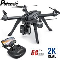 Potensic D85 Drone with 2K HD Camera FPV GPS 5G WiFi Quadcopter Brushless Drones
