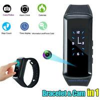 1080P HD Spy Mini Camera Wristband Hidden Cam DV Video Band Sport Bracelet Watch