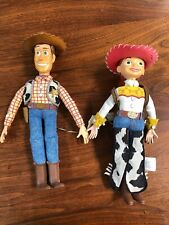 """Vintage Talking Toy Story Woody and Jessie 16"""" Plush Figurines"""